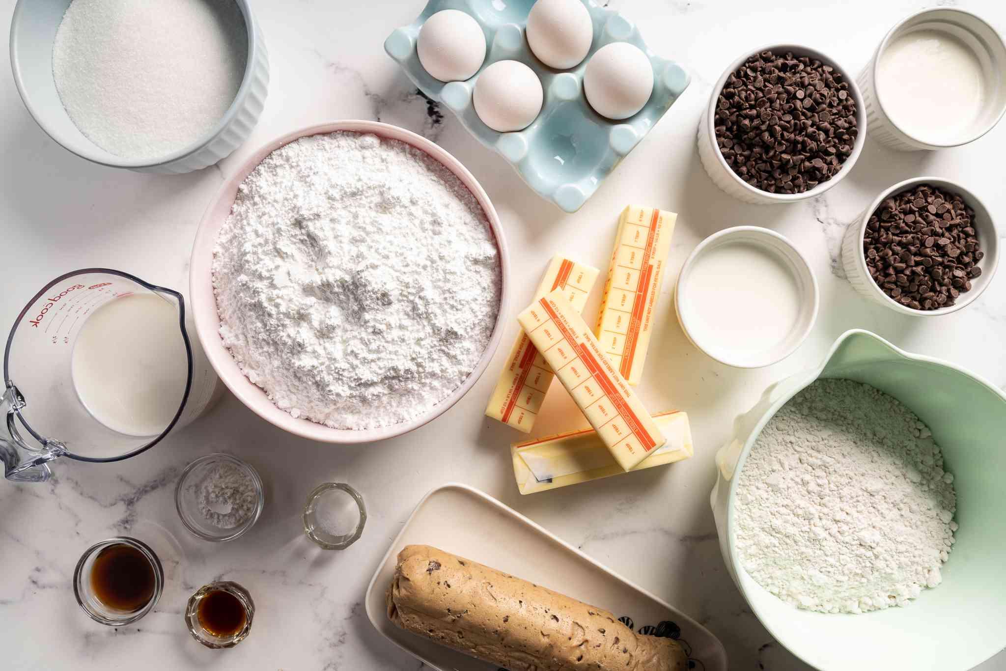 Cookie dough cake ingredients