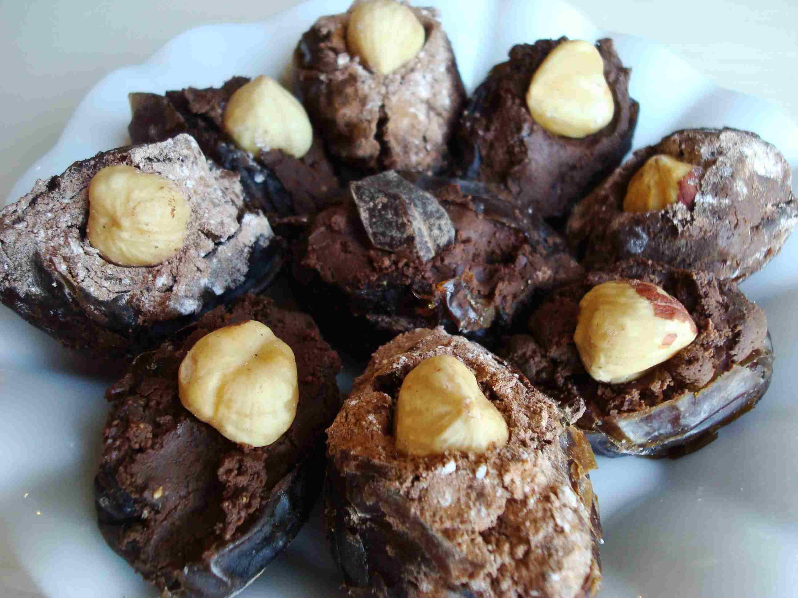 Chocolate Hazelnut Stuffed Dates