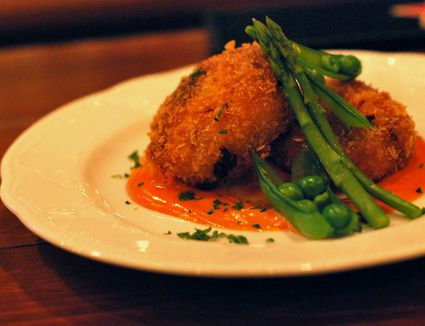 Seafood croquettes with aurora sauce