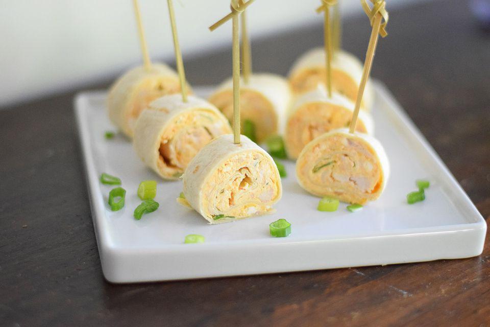 Buffalo Chicken Tortilla Roll-ups