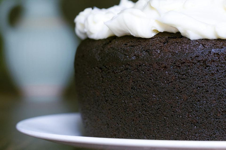 Chocolate Guinness cake made with 1/2 a pint of Guinness.