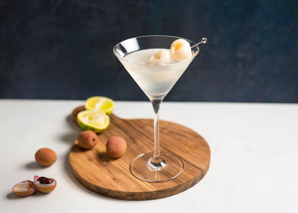 Lychee martini with homemade liqueur recipe
