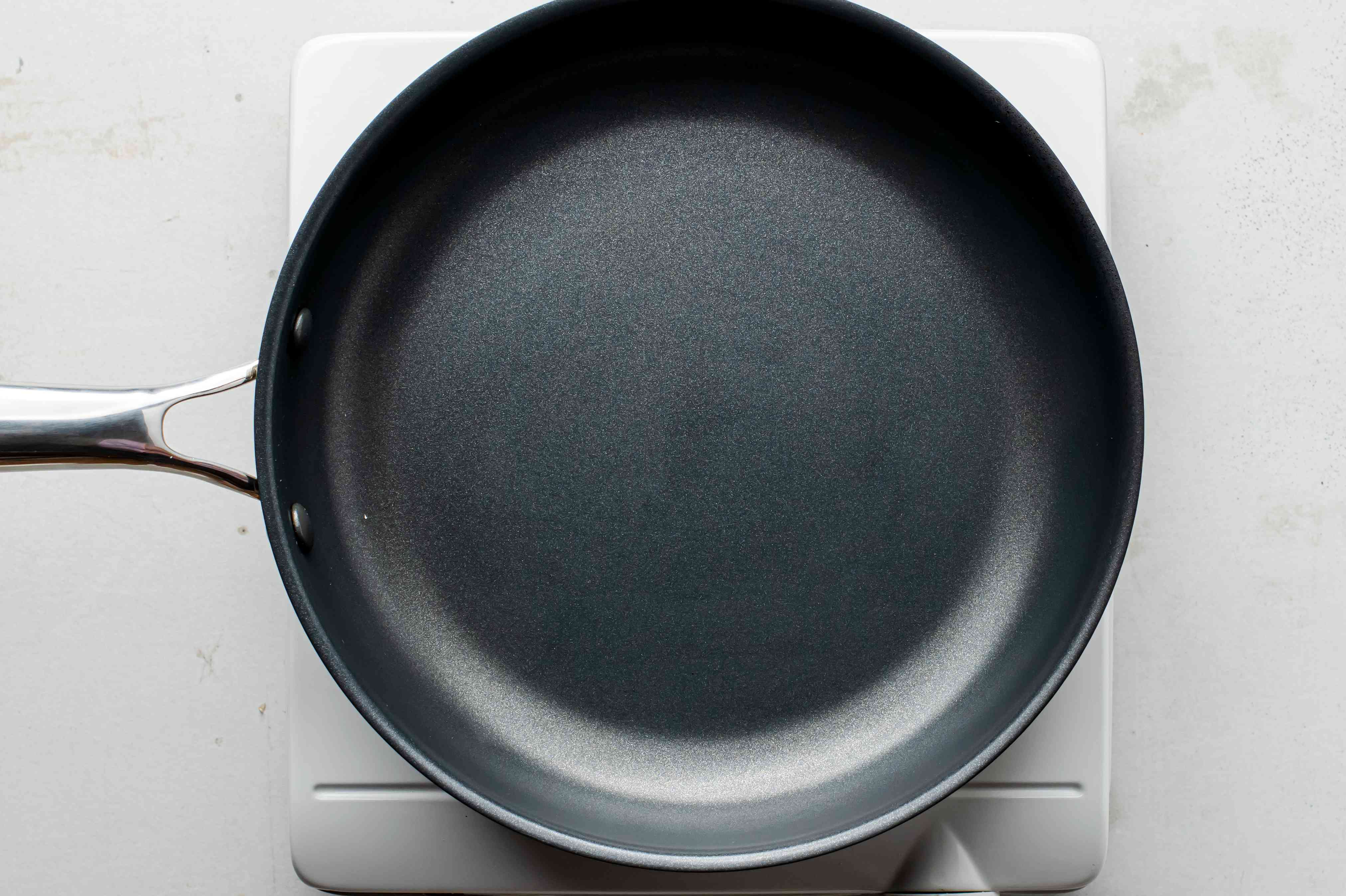 Heating a nonstick skillet