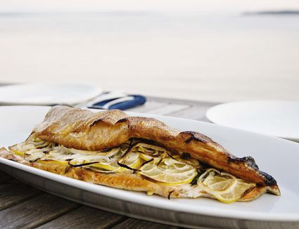 Basil-Rosemary Grilled Trout