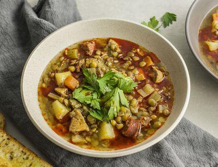 Spanish lentil soup recipe