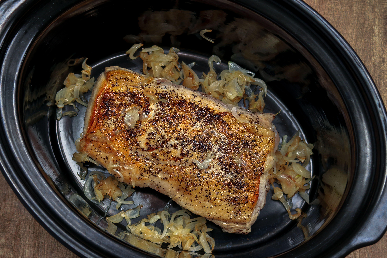 Pork loin in a slow cooker