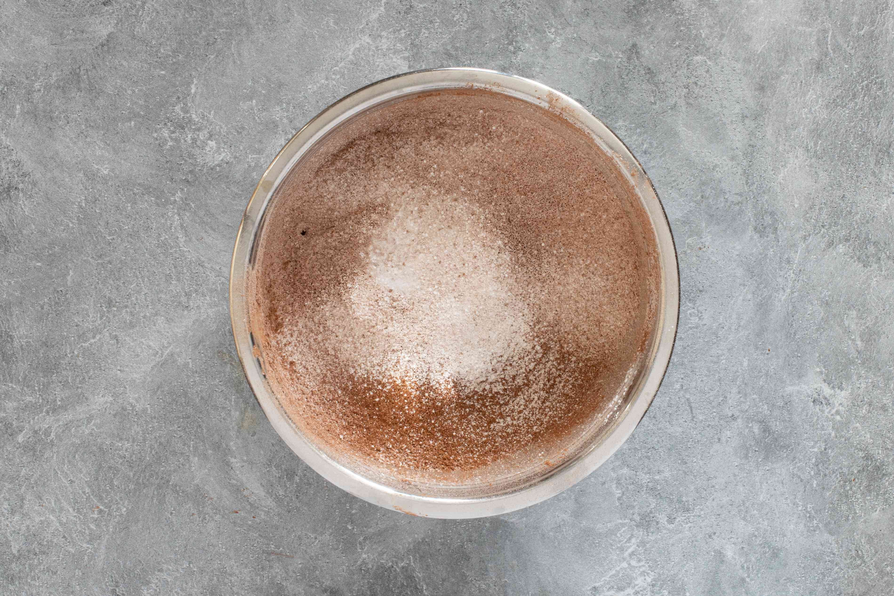 cocoa and confectioners sugar sifted together