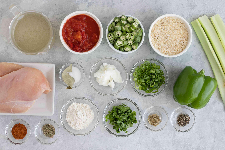 Classic chicken gumbo ingredients