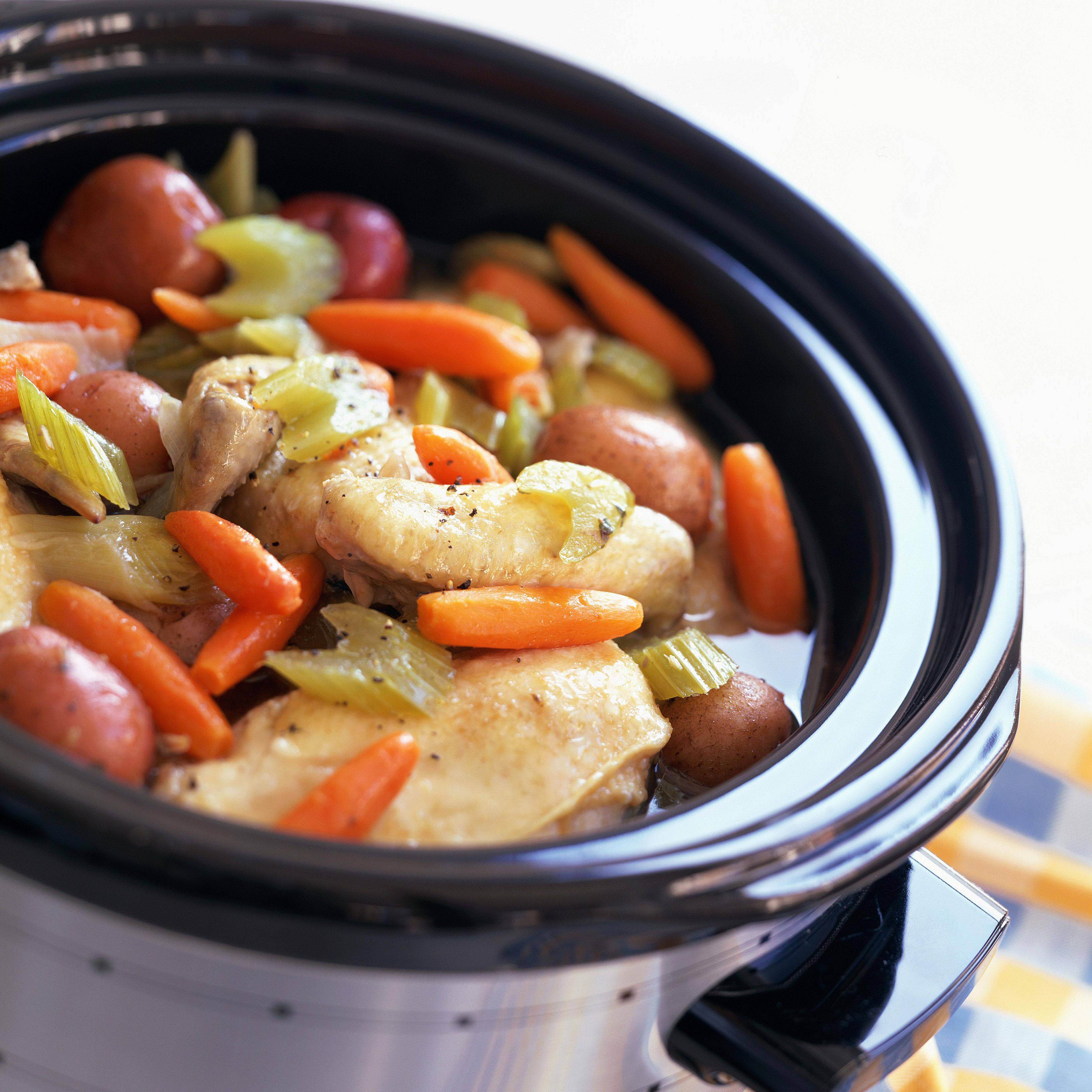 Slow Cooker Lemon Chicken and Carrots