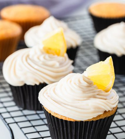 Dairy-Free Vegan Lemon Cupcakes