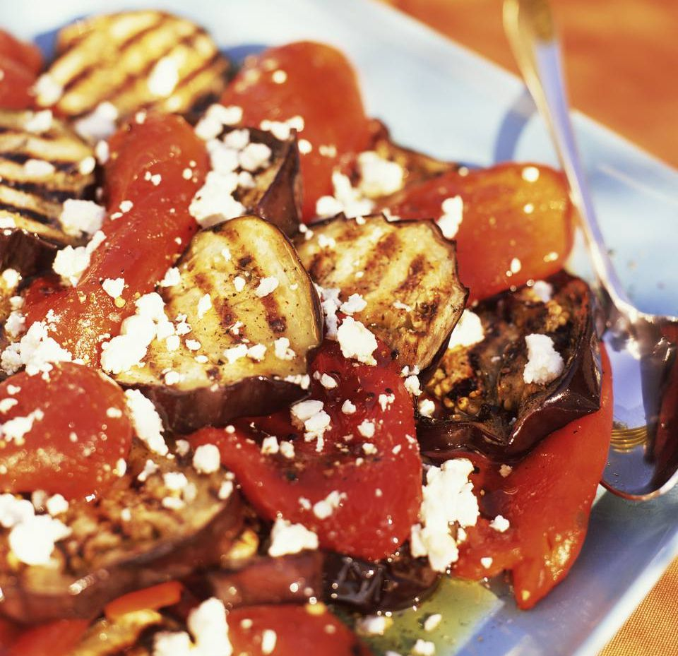 Eggplant with Tomatoes and Feta