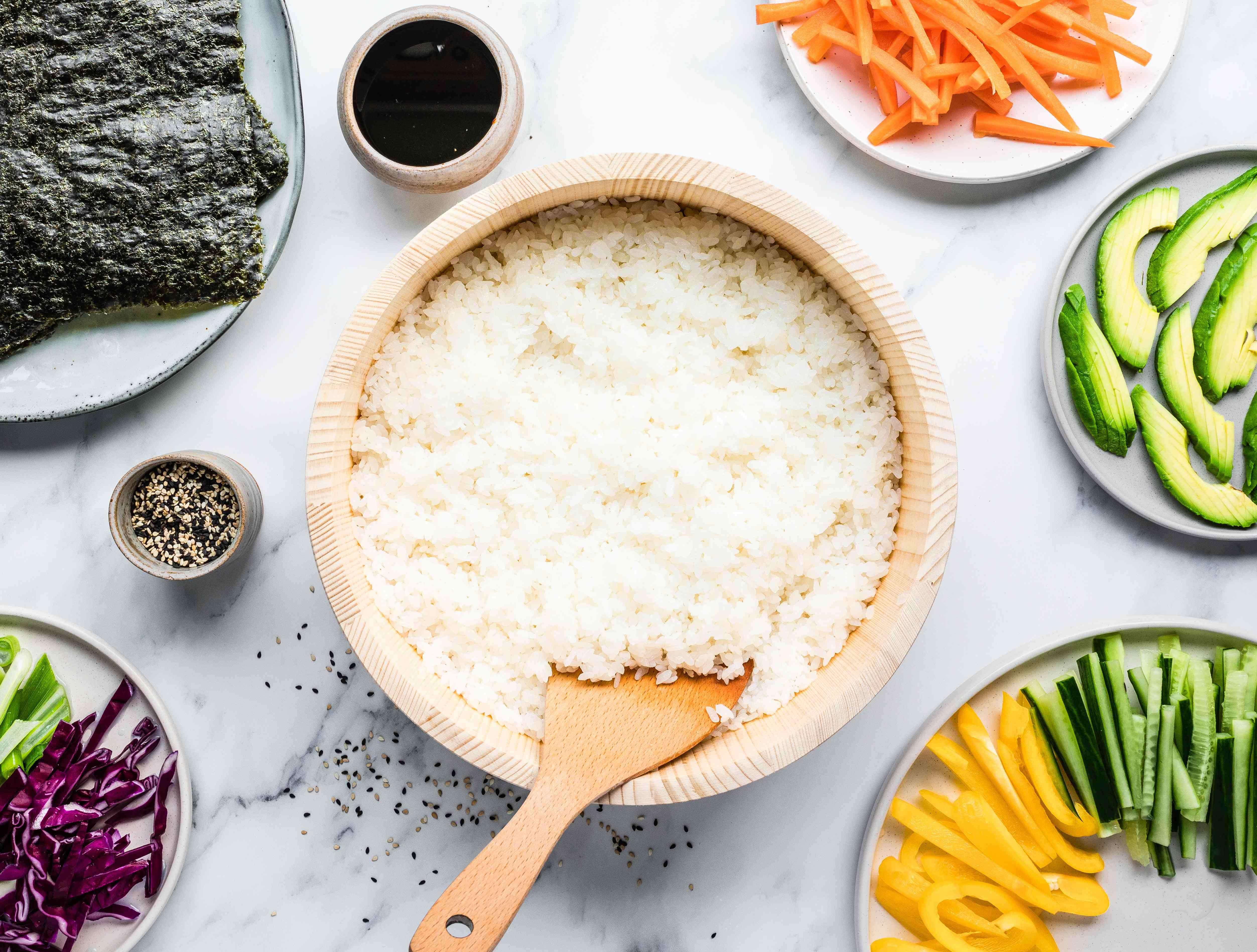 Classic Japanese sushi rice
