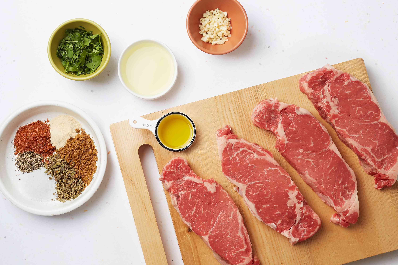 Fajita-Style New York Strip Steaks ingredients