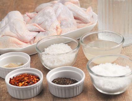 Easy Chicken Wing Brine Recipe ingredients