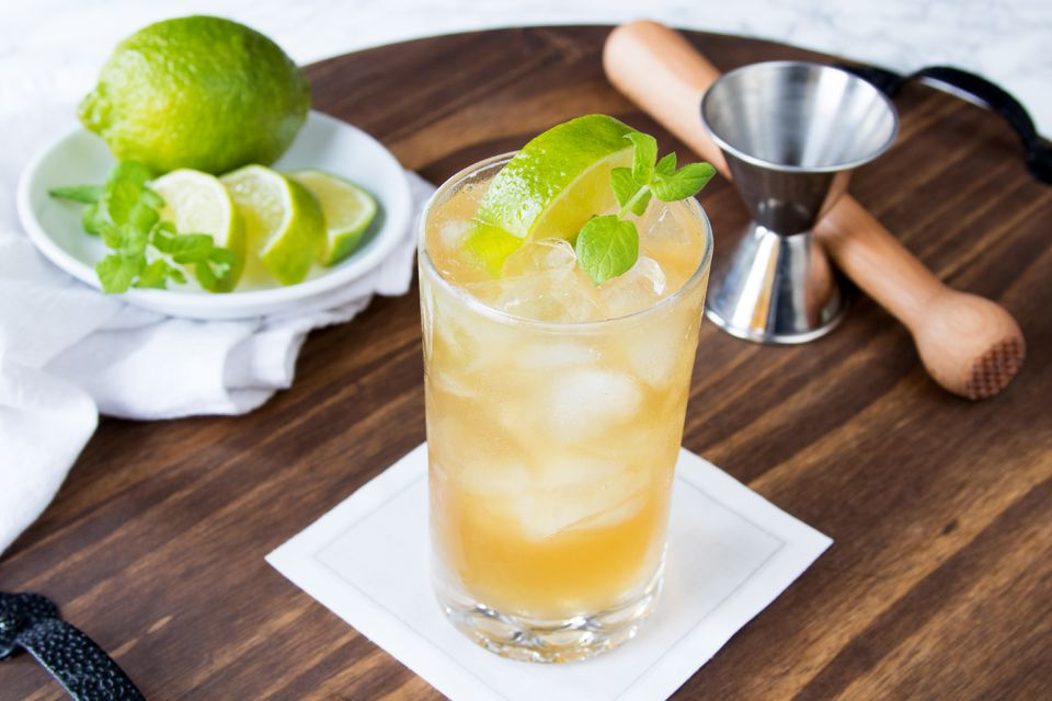 Whiskey Cider Julep Cocktail