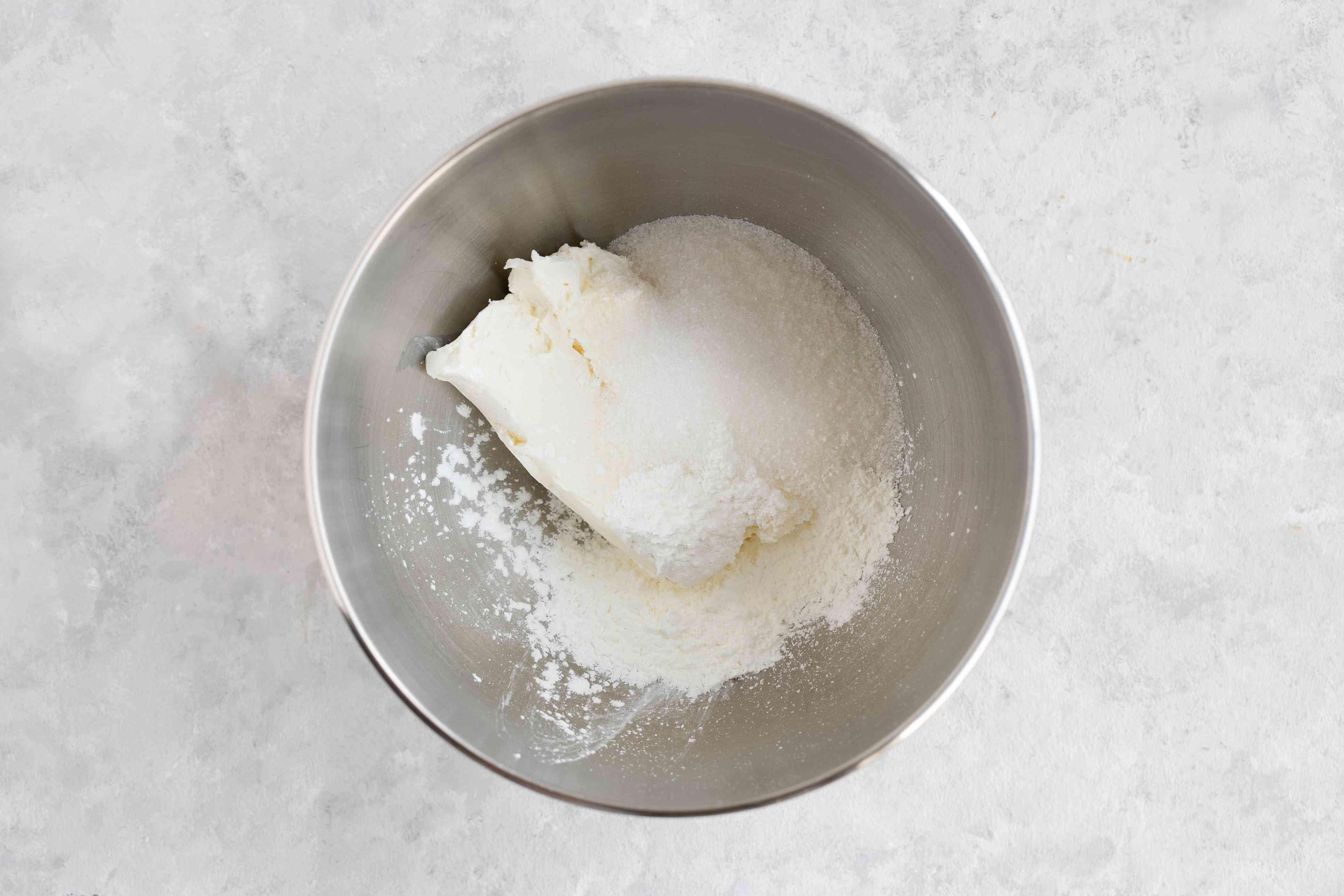 Softened cream cheese, sugar, and cornstarch