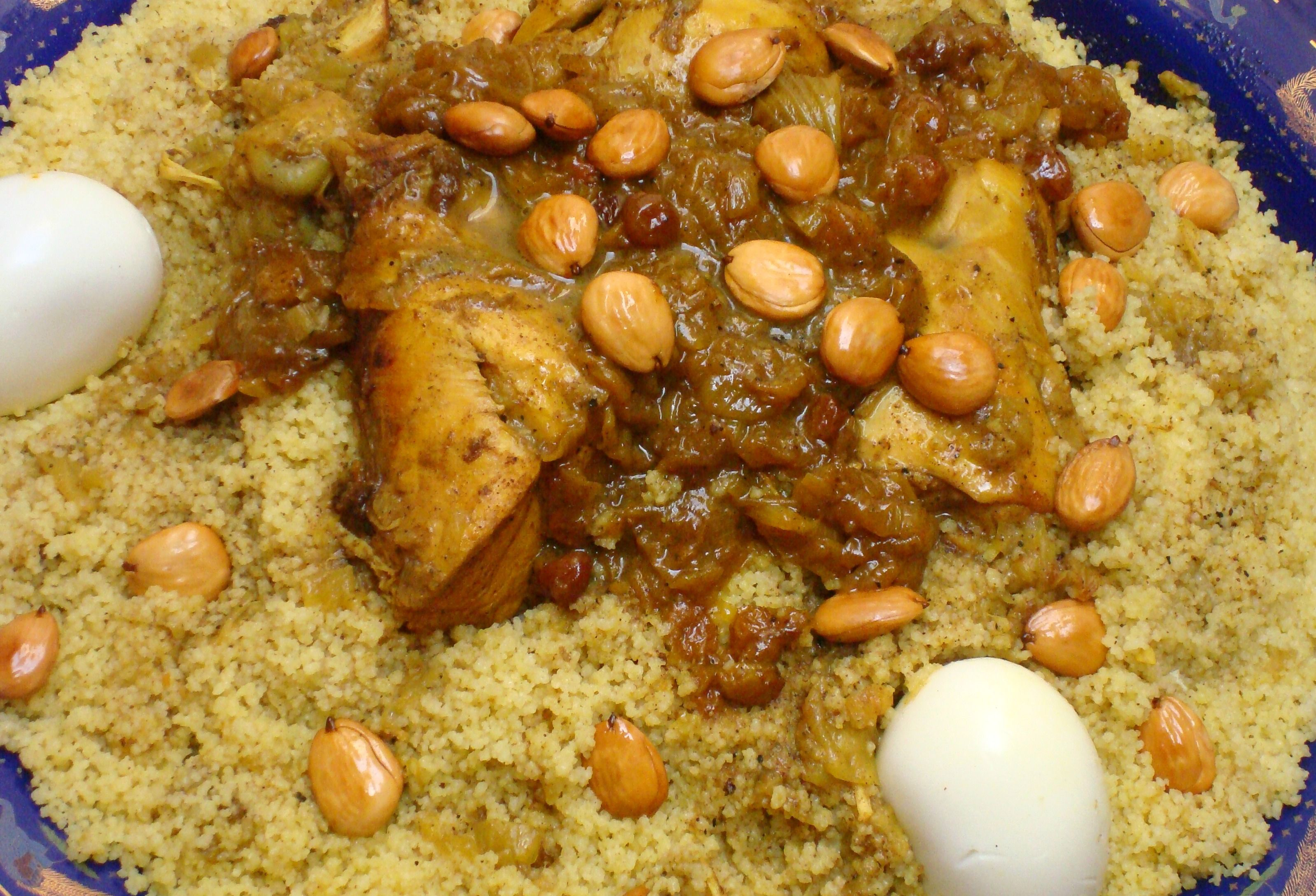 Couscous Tfaya With Chicken