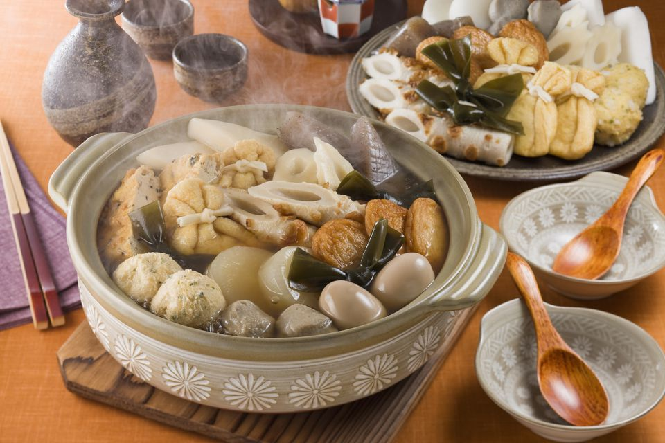 Oden served on table