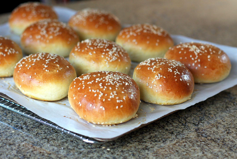 Buttery Brioche Hamburger Buns