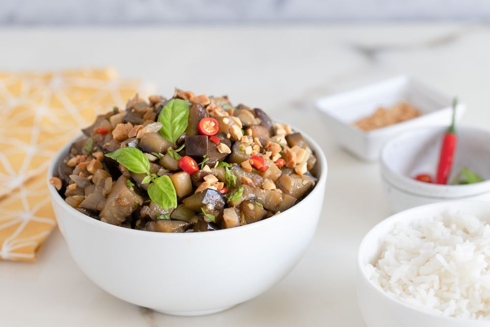 Vegan Stir-Fried Eggplant