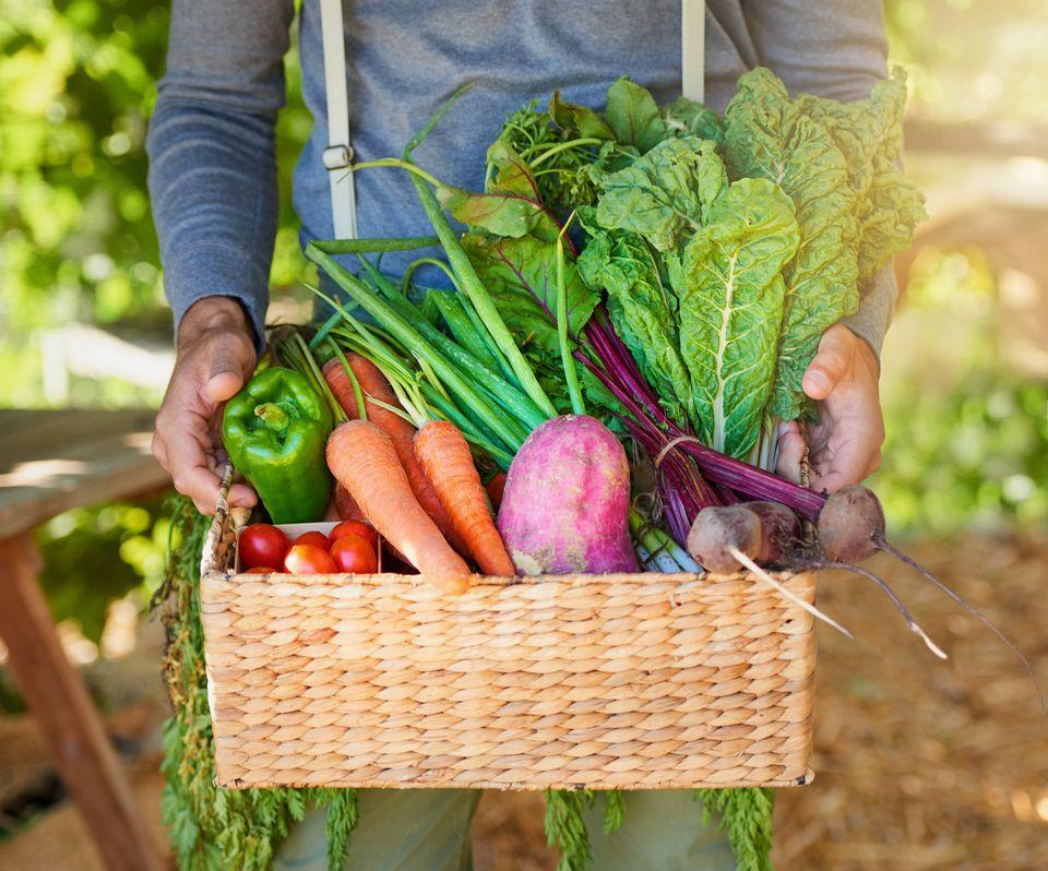 Basket of fresh produce