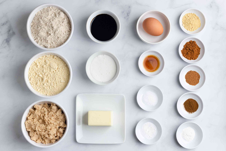 Gluten-Free Gingersnap Cookies ingredients