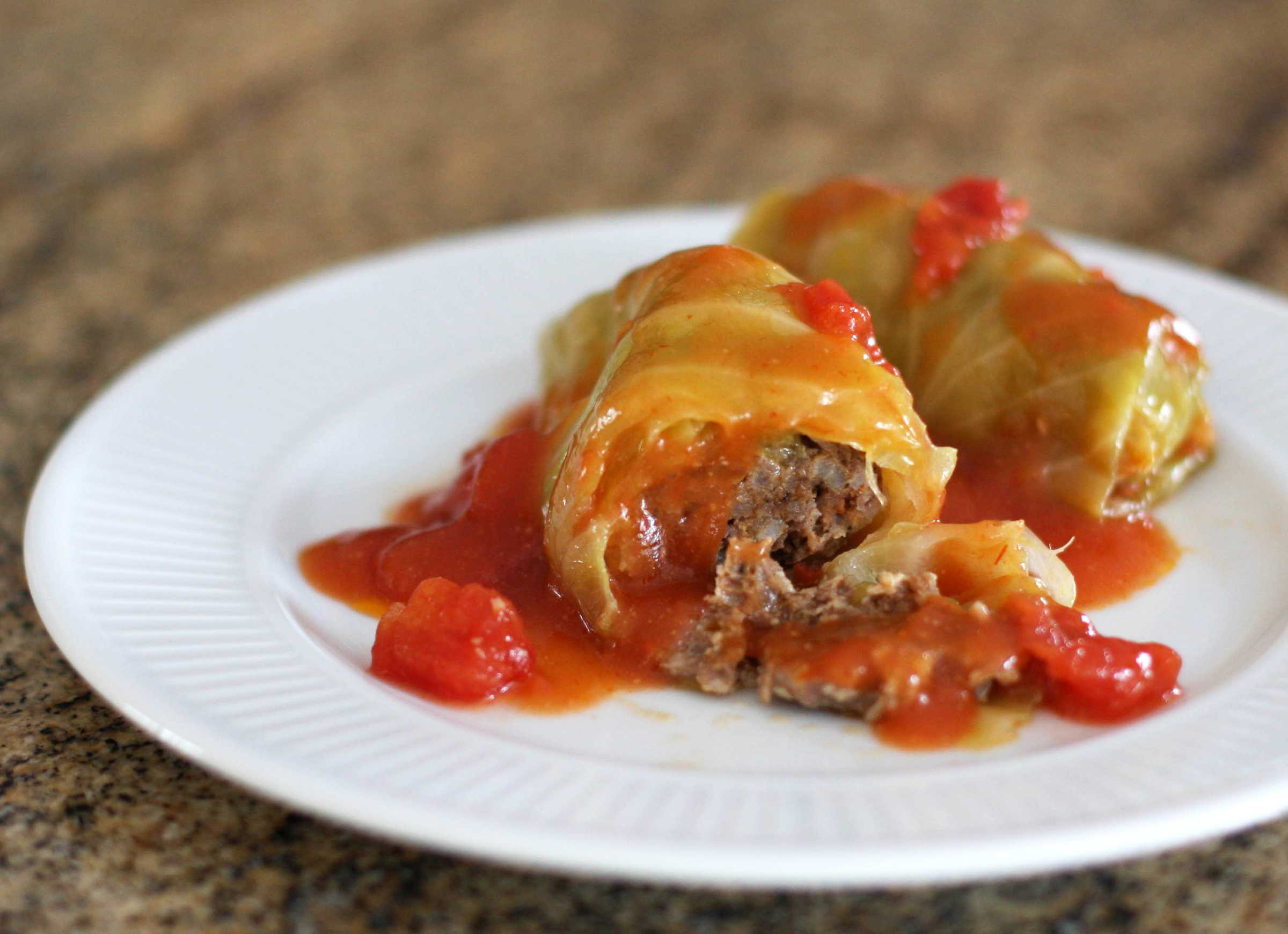 Baked Stuffed Cabbage Rolls