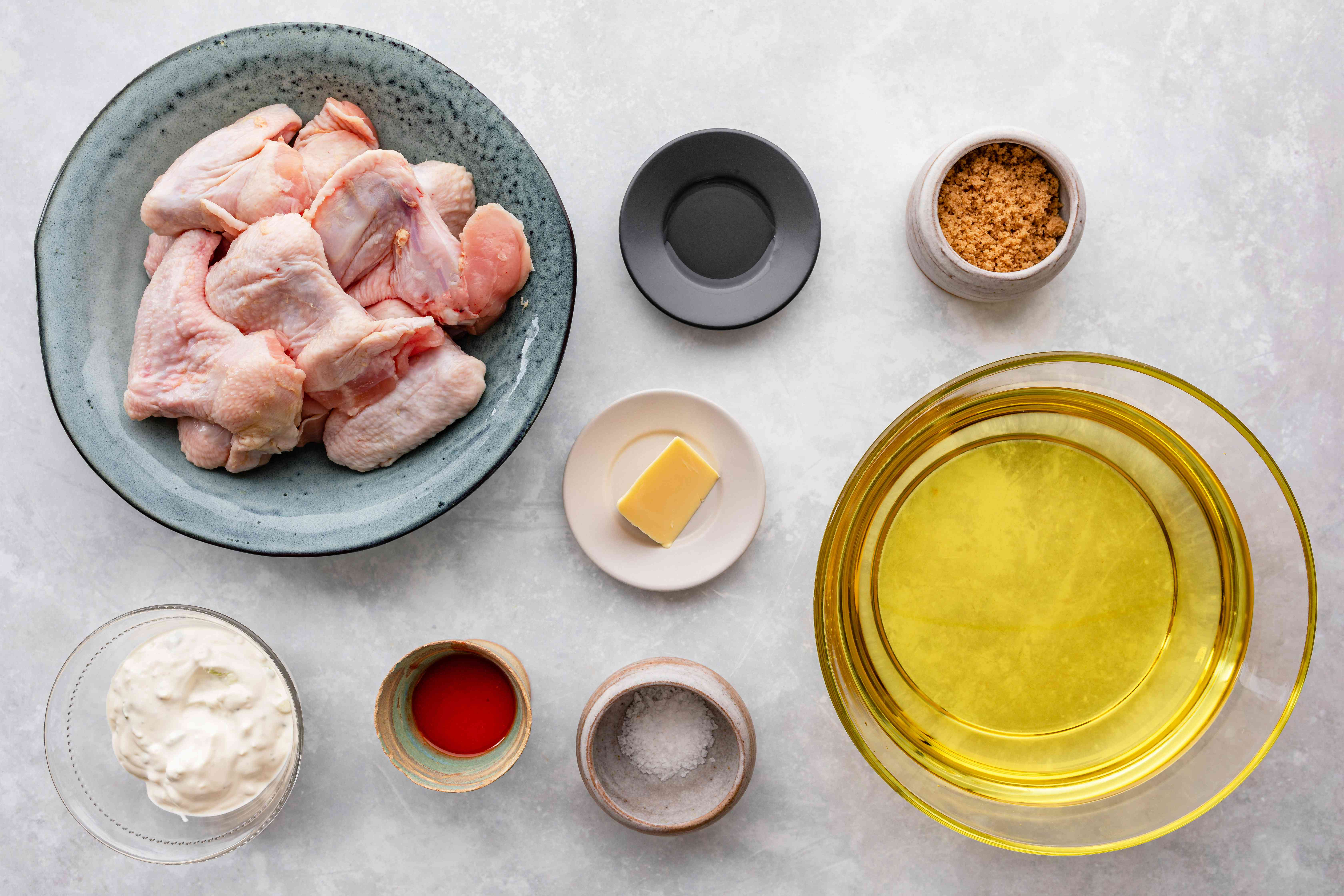 Ingredients for authentic Buffalo wings