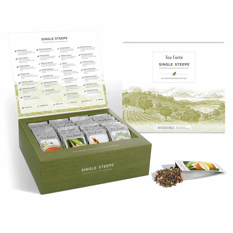 Tea Forte Classic Teas Single Steeps Tea Chest