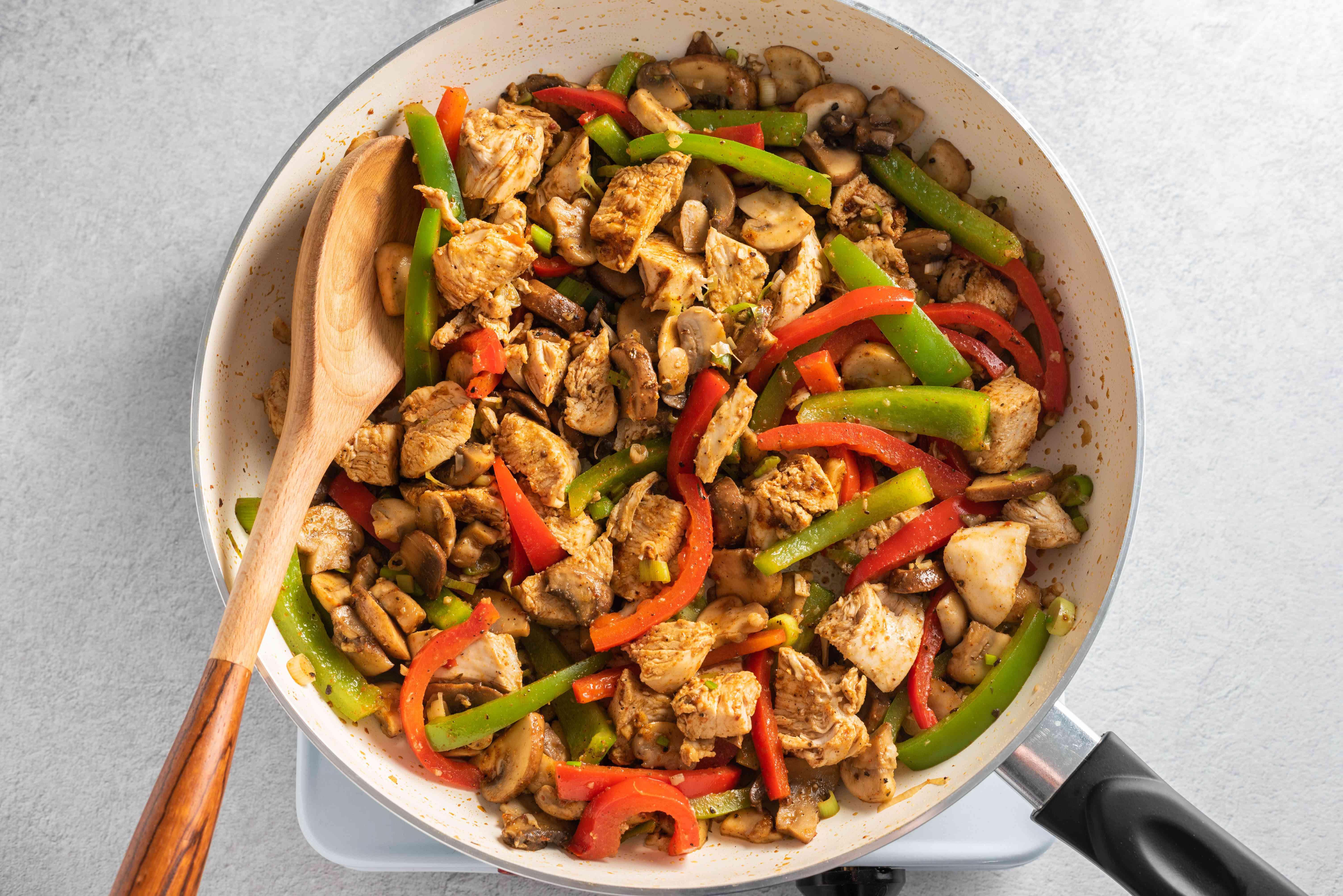 Stir in Cajun seasoning