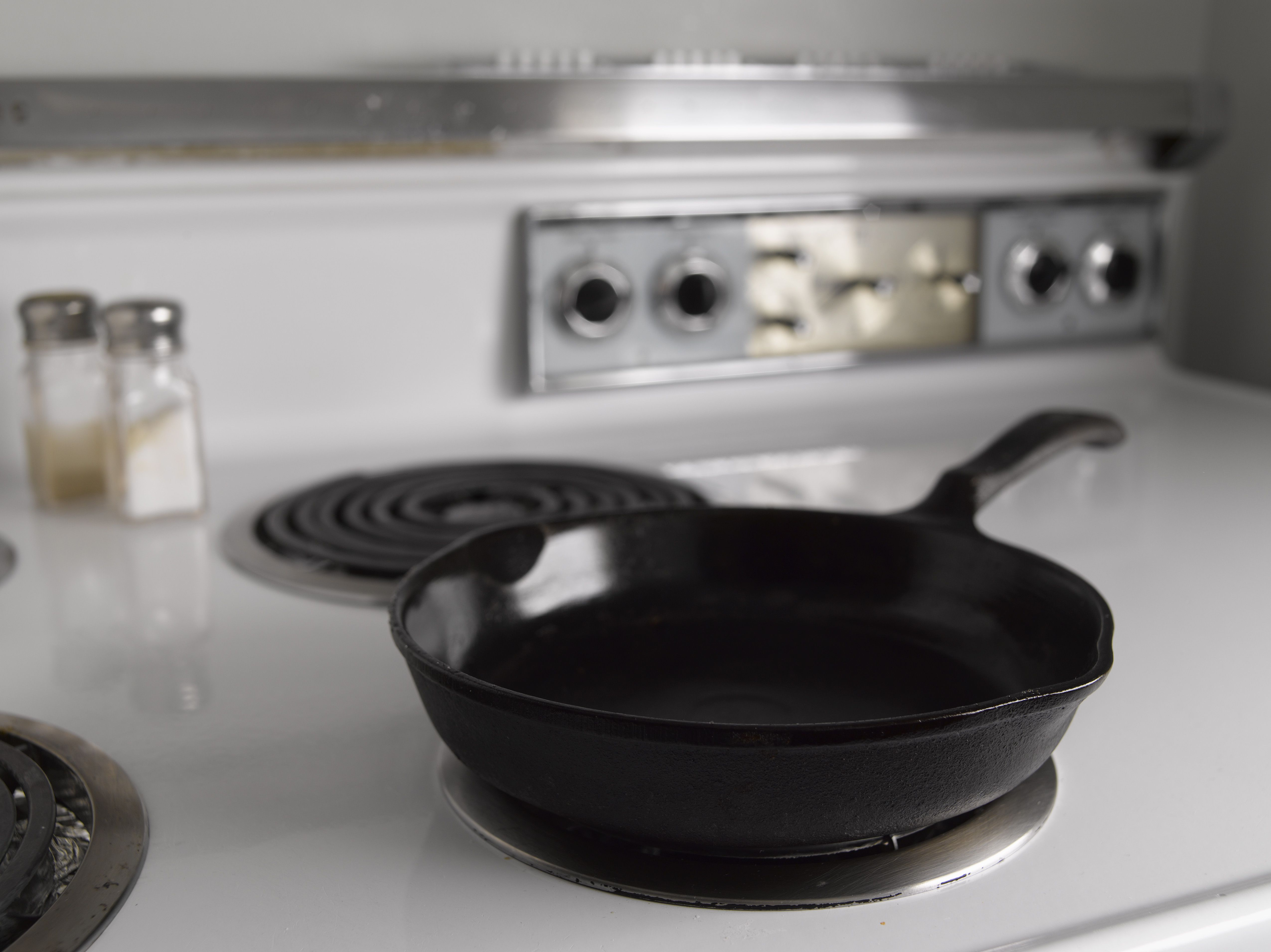 Frying pan on stovetop