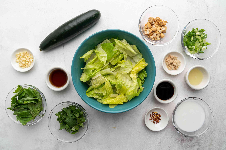 Thai Green Salad ingredients