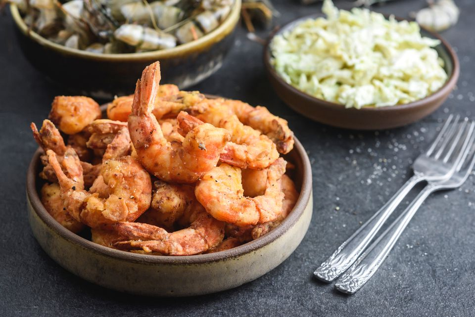 Cornmeal Fried Shrimp Recipe
