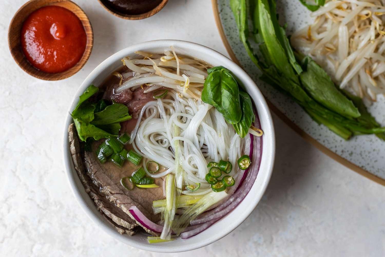 Pho Bo Soup (Vietnamese Beef Noodle Soup)