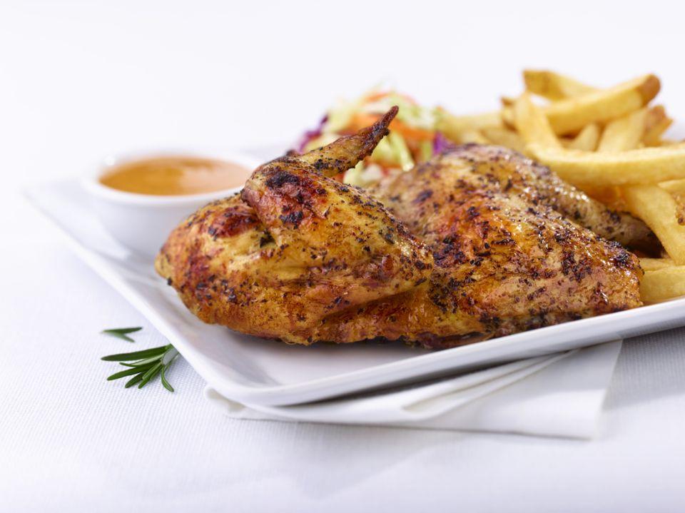 Receta española de pollo con ajo asado