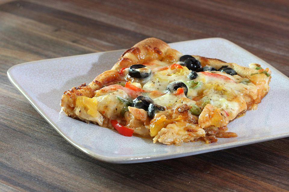 Masa de pizza de albahaca