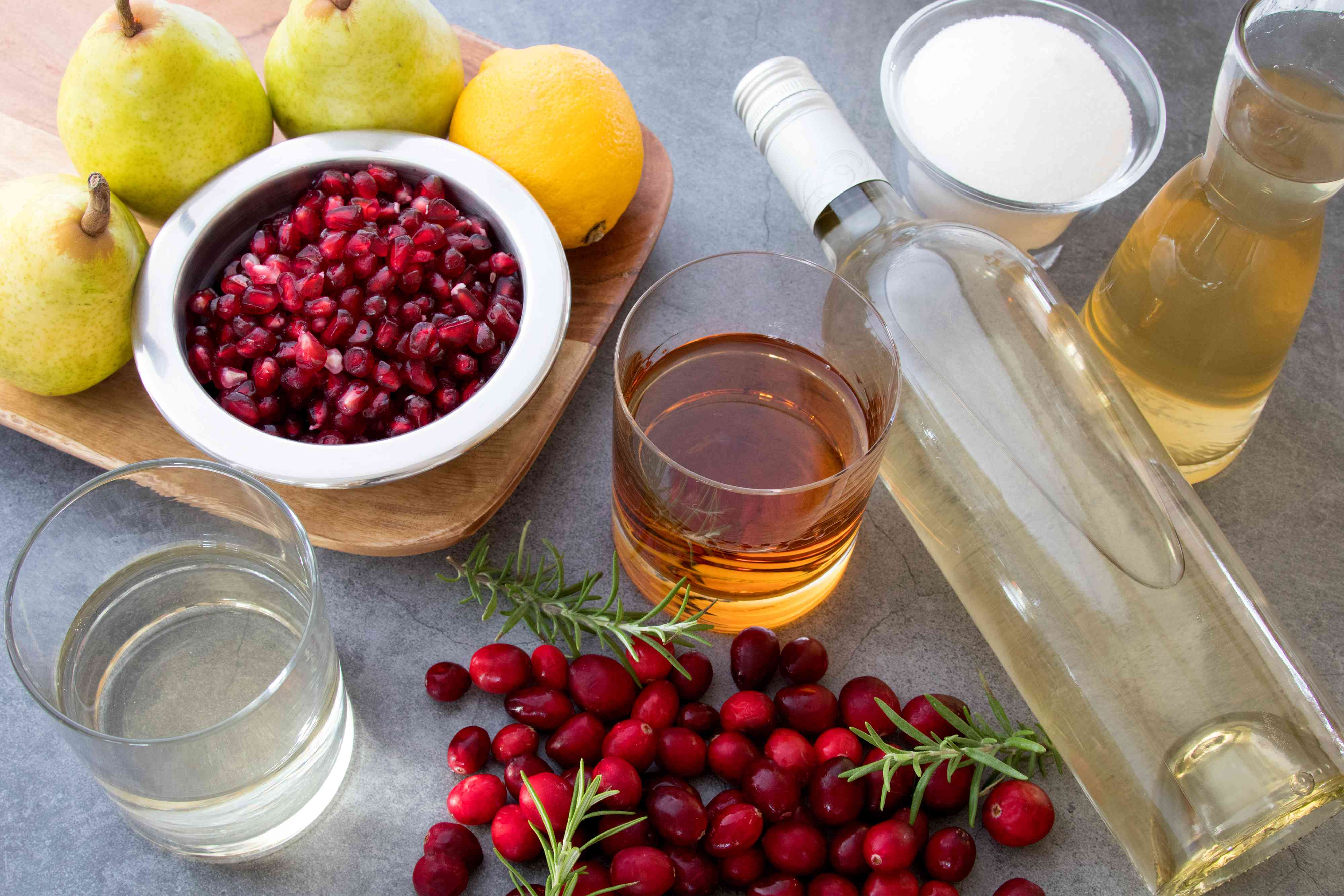 Ingredients for Christmas sangria