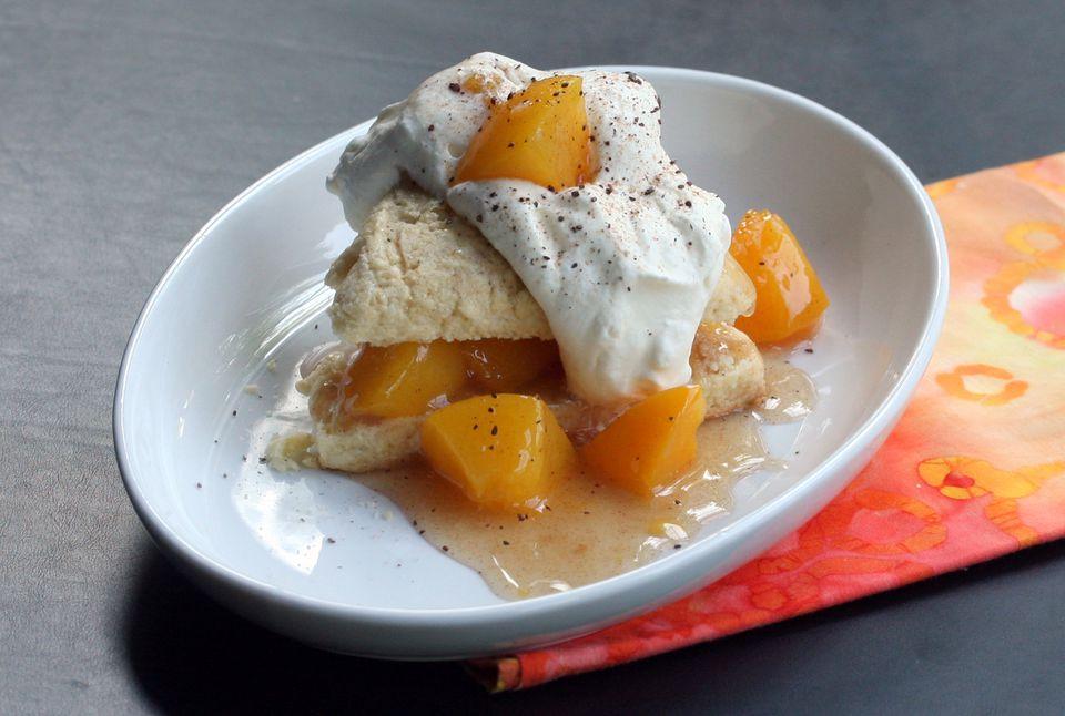 Peach Shortcake With Scones