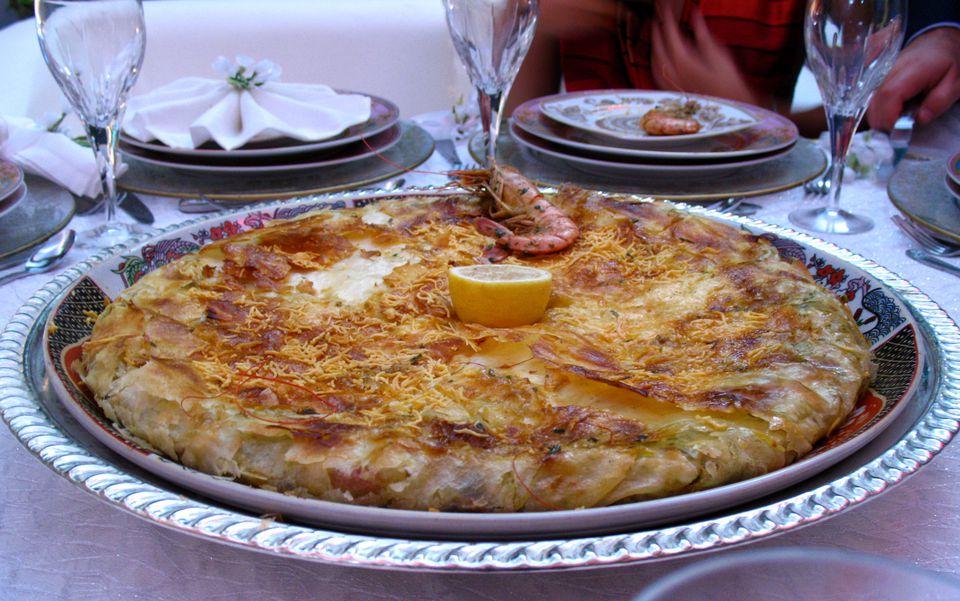 Moroccan Seafood Bastilla