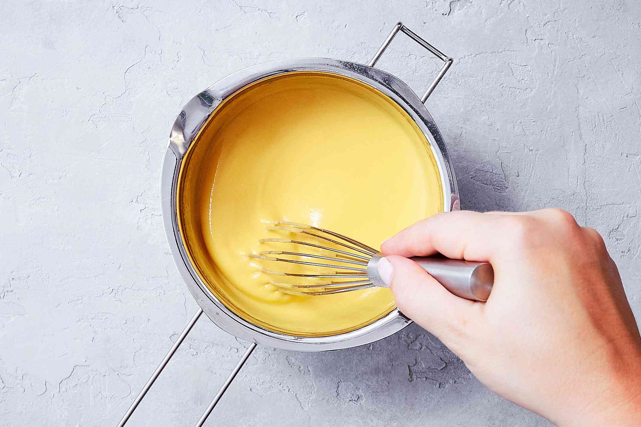 Whisk the sauce