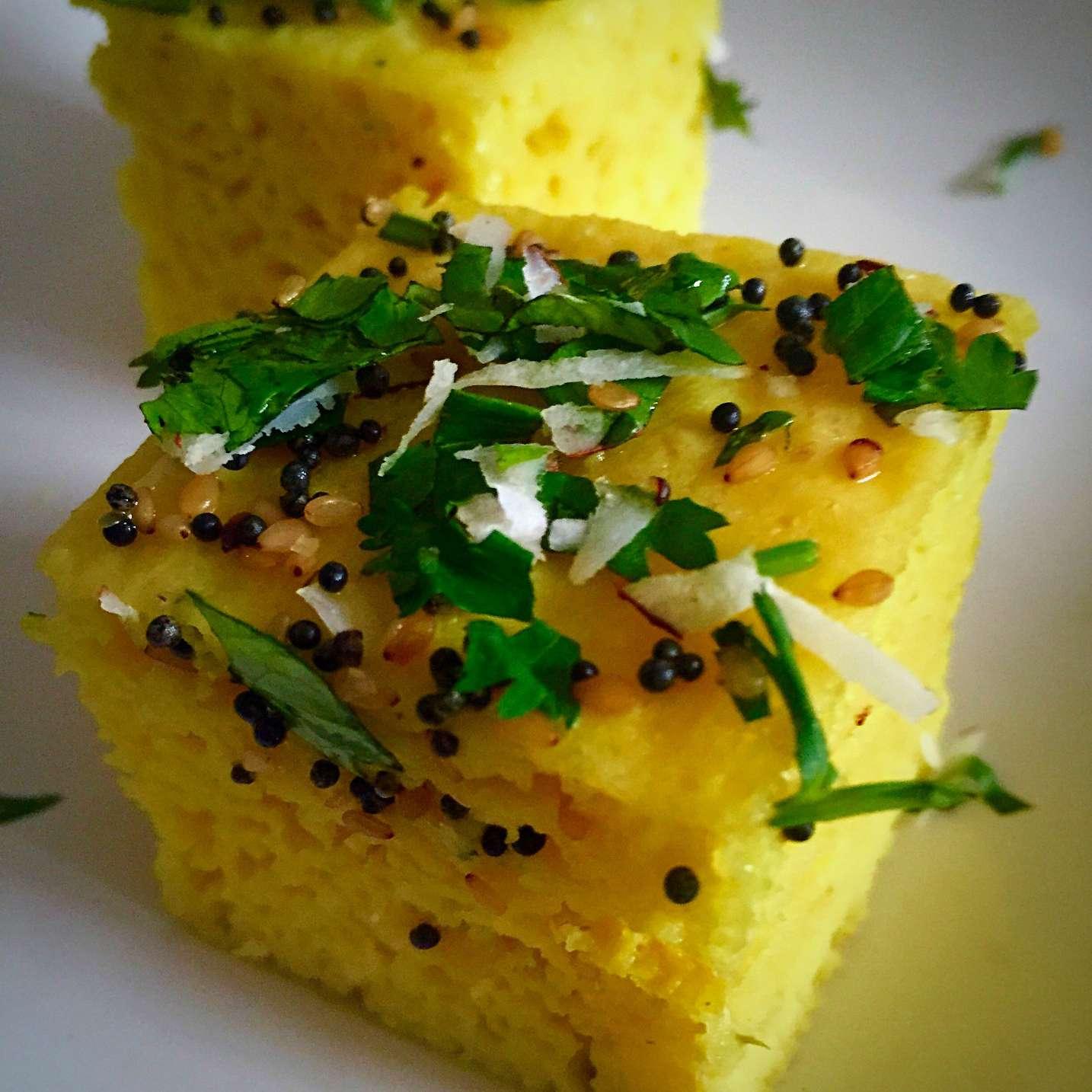 Dhokla - Gujarati Steamed Lentil Cake