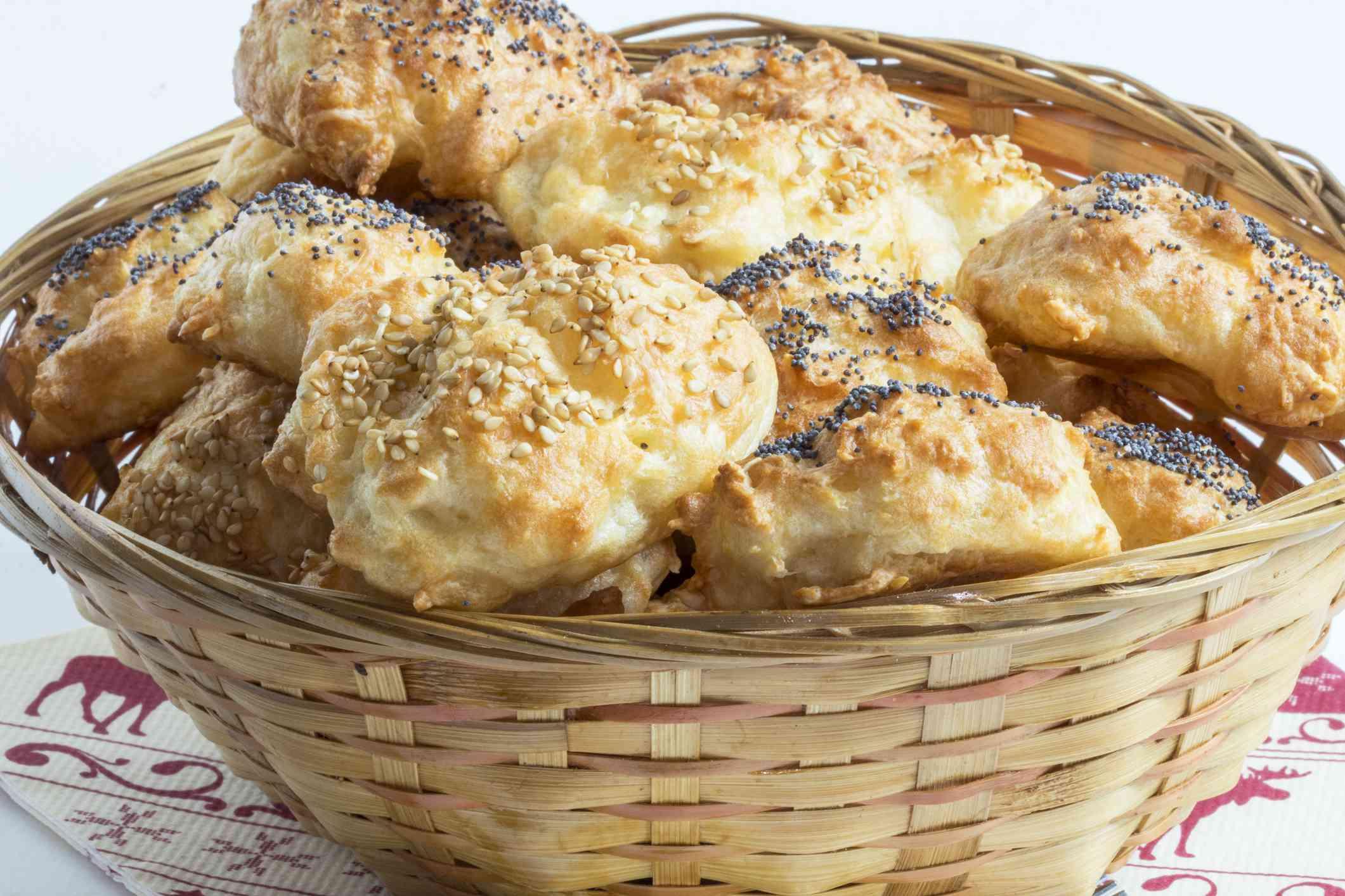 Gougères (cheese puffs)