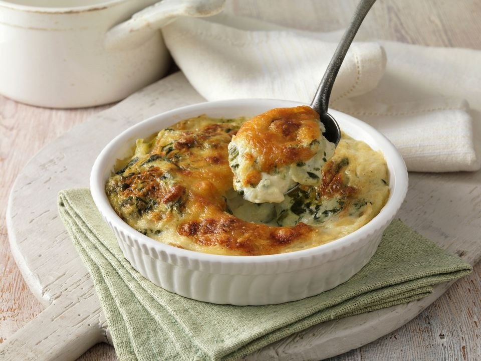 french spinach gratin