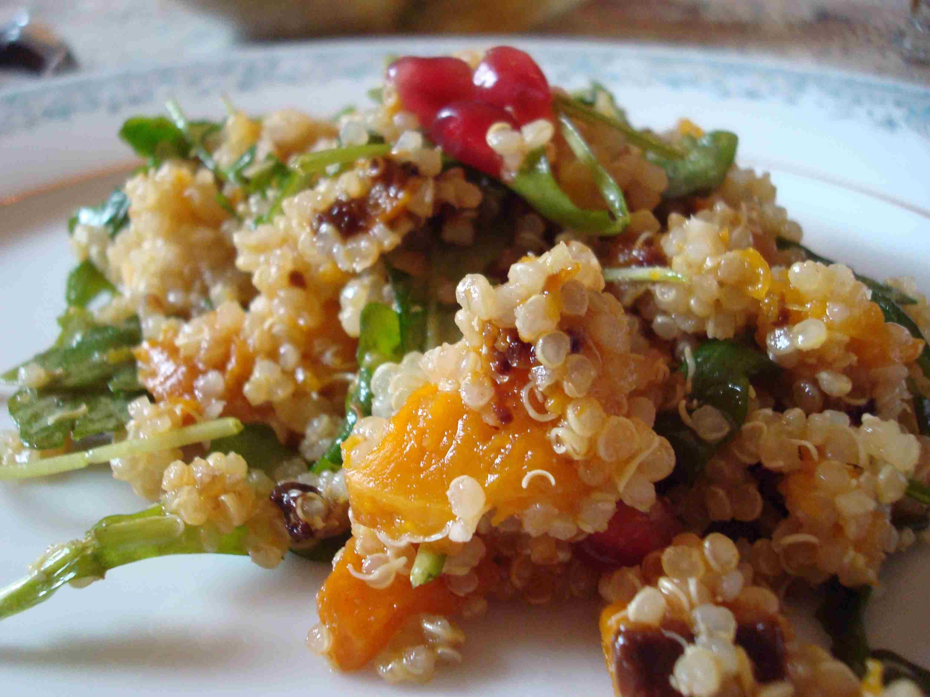 Quinoa Butternut Squash Arugula Salad