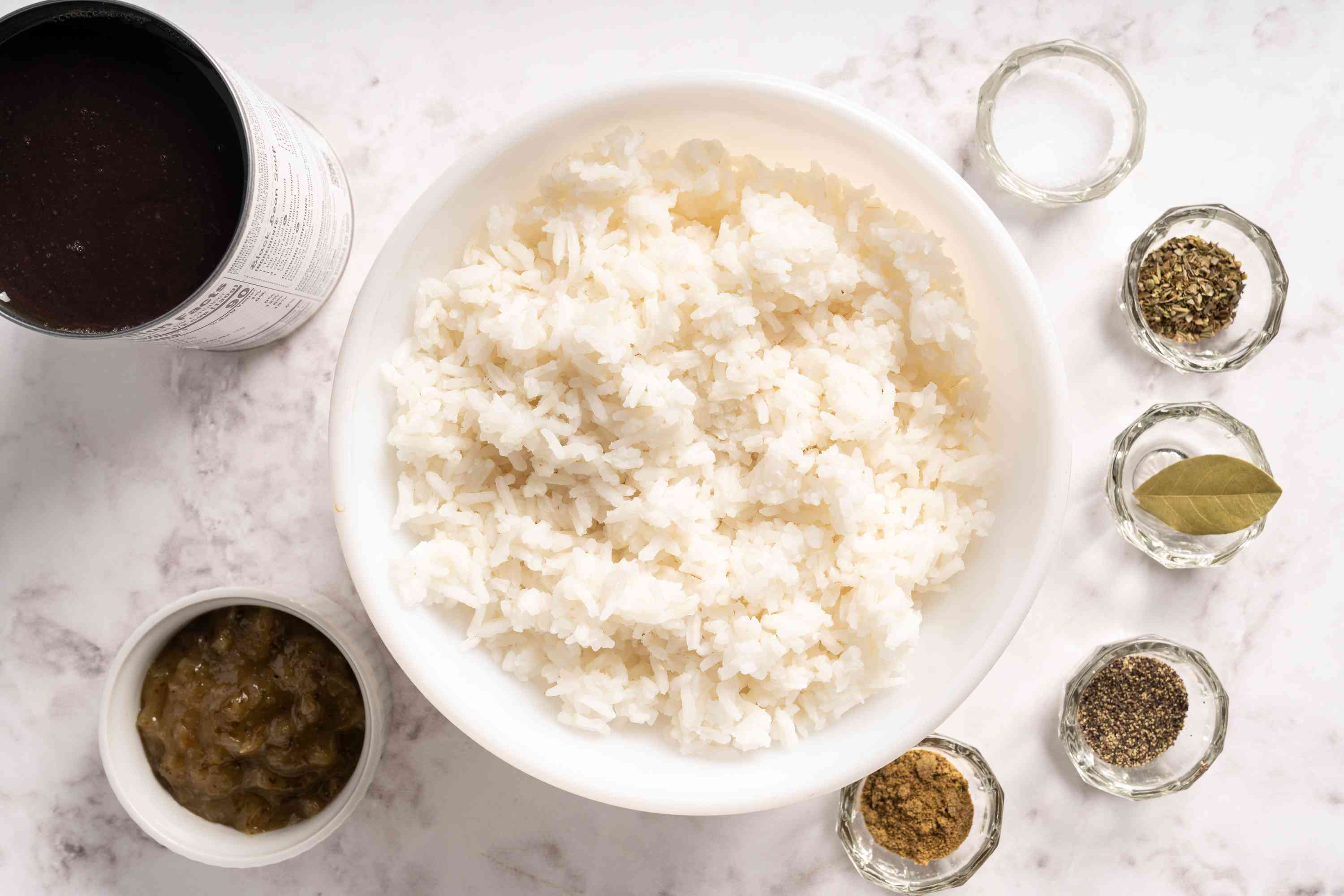 Moros y Cristianos (Black Beans and White Rice) ingredients