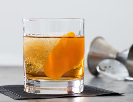 Rum Old-Fashioned Cocktail