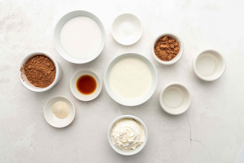 Sugar-Free Chocolate Mousse Recipe ingredients