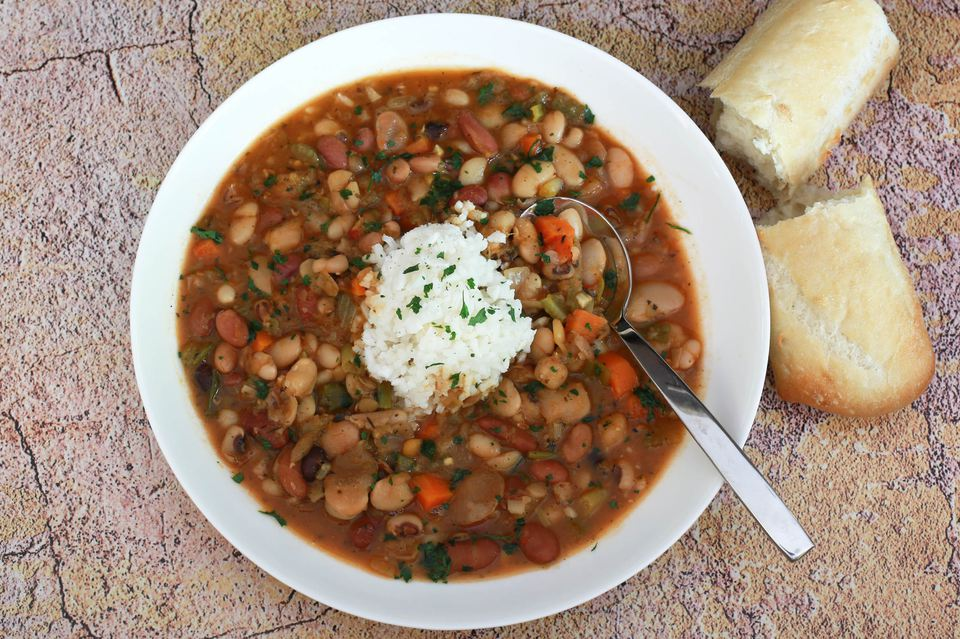 15 or 16 bean soup