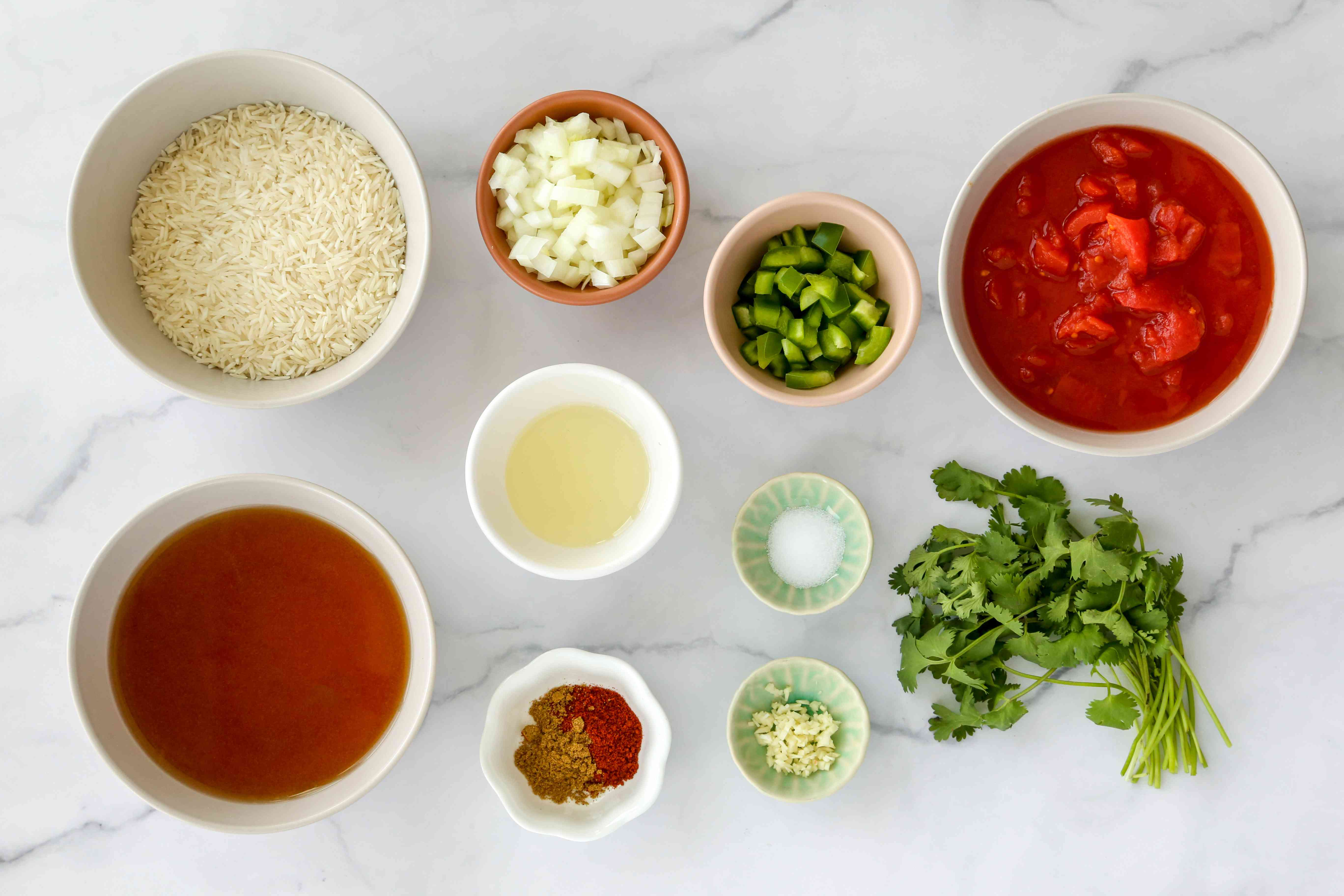Classic Mexican Rice With Tomatoes and Peppers ingredients