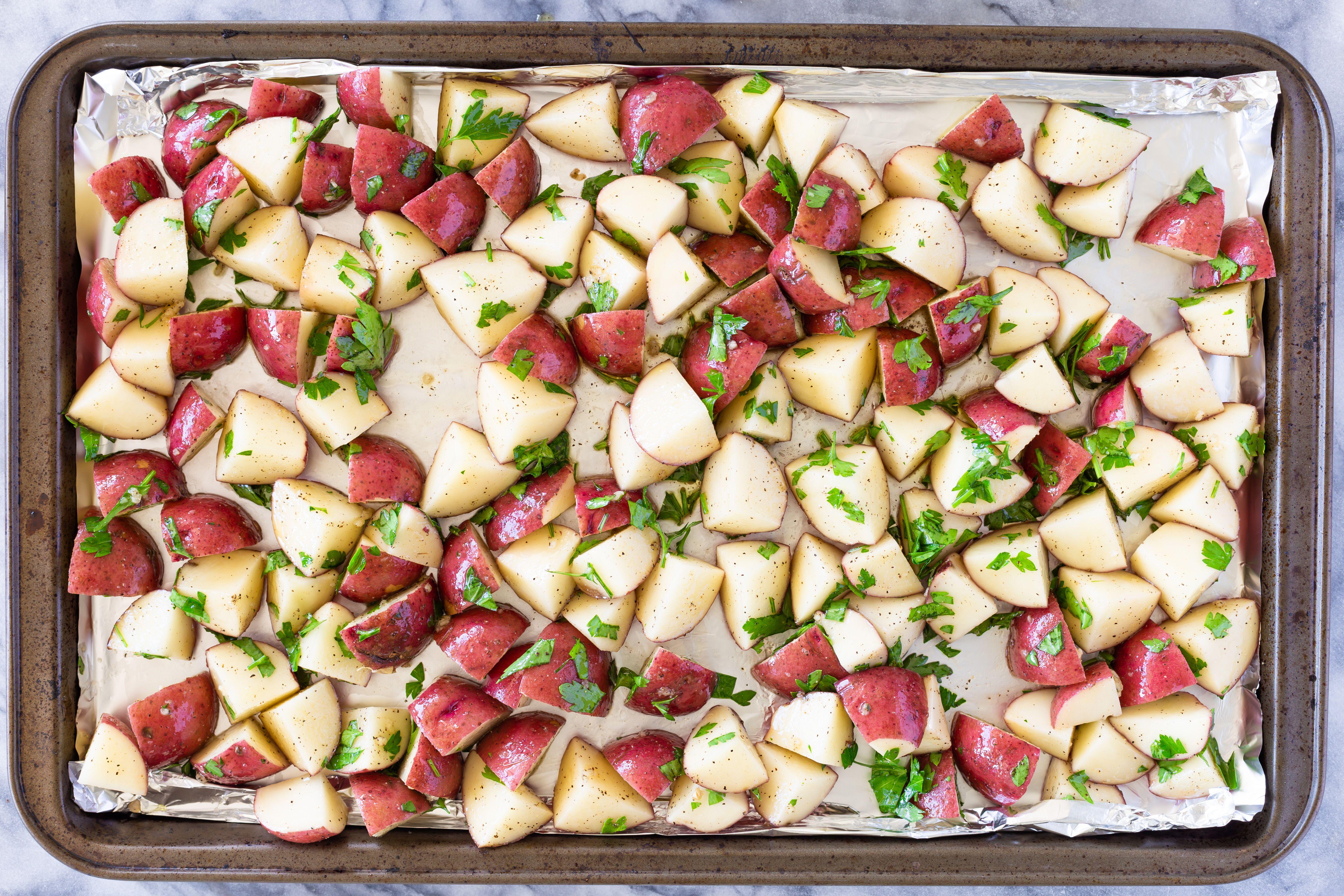Sheet pan roasted potatoes.